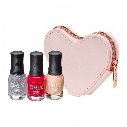 Orly Ballet Pink Heart Purse - 3 Minis