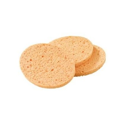 Yellow Cosmetic Sponge Round 3 Pk