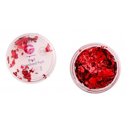 Amy G - Red Crushed Foil