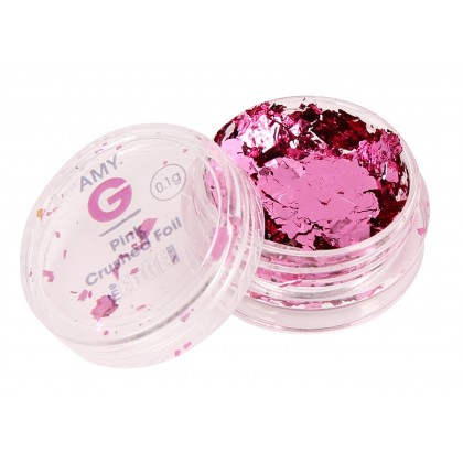 Amy G - Pink Crushed Foil