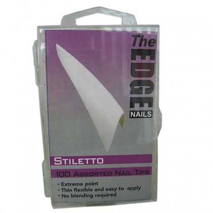 Stiletto 100 Assorted Nail Tips French