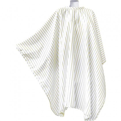 Dmi Vintage Barber Cape Gold On White
