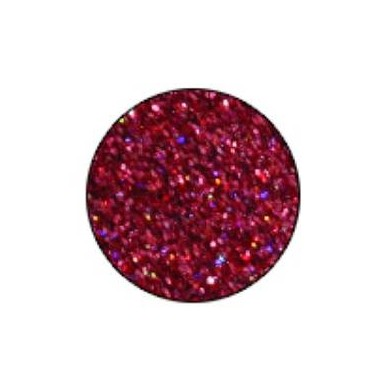Polyester Glitter Rainbow Red